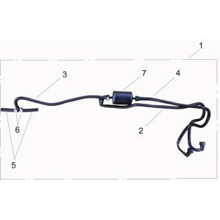 Комплект топливных шлангов с фильтром