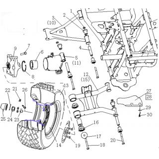 Запчасти задних колес