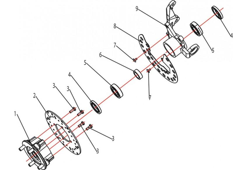 Запчасти ступицы передних колес