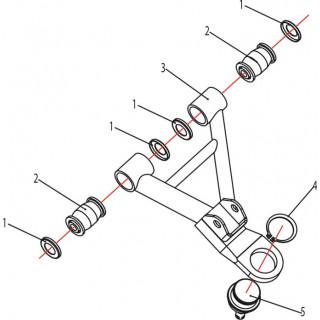 Запчасти верхних рычагов передней подвески