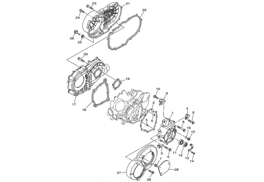 Запчасти крышки вариатора двигателя