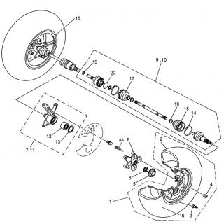 Запчасти привода передних колес