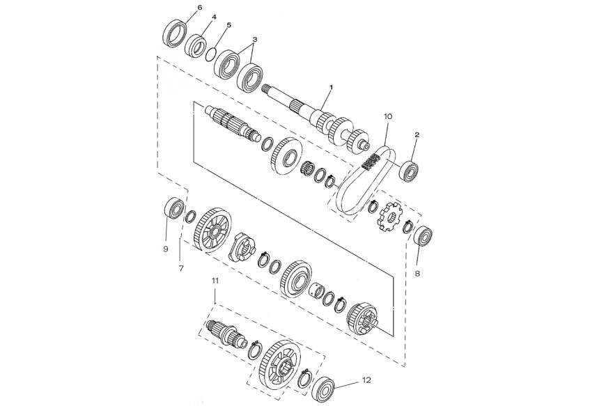 Запчасти шестерни механизма переключения передач