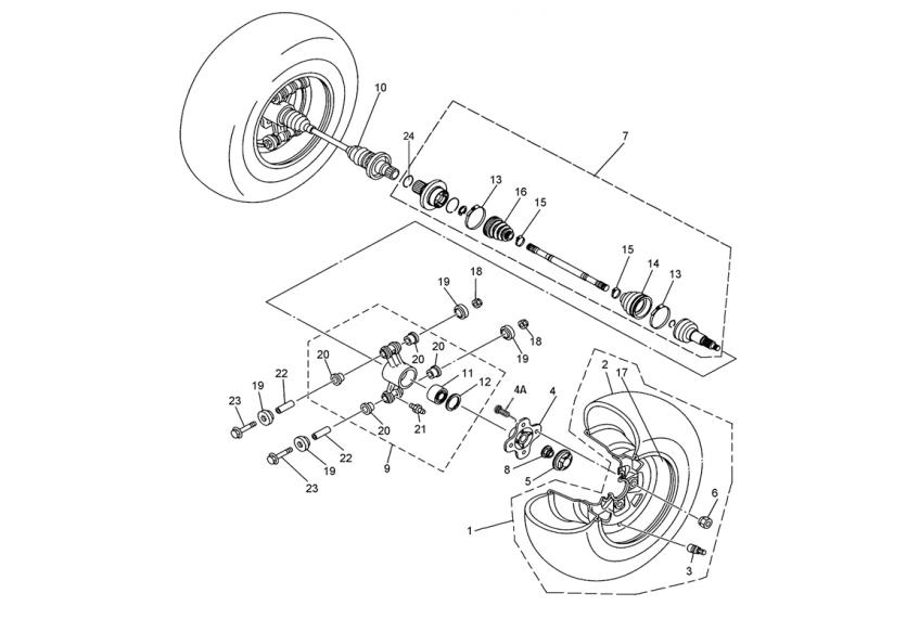 Запчасти привода задних колес