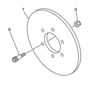 Запчасти тормозного диска (задний тормоз)