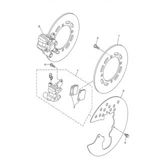 Запчасти тормозного диска (передний тормоз)
