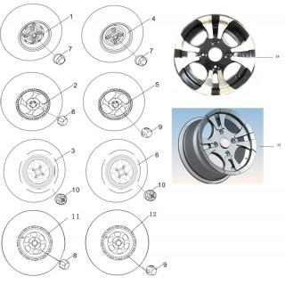 Запчасти дисков и колпаков колес