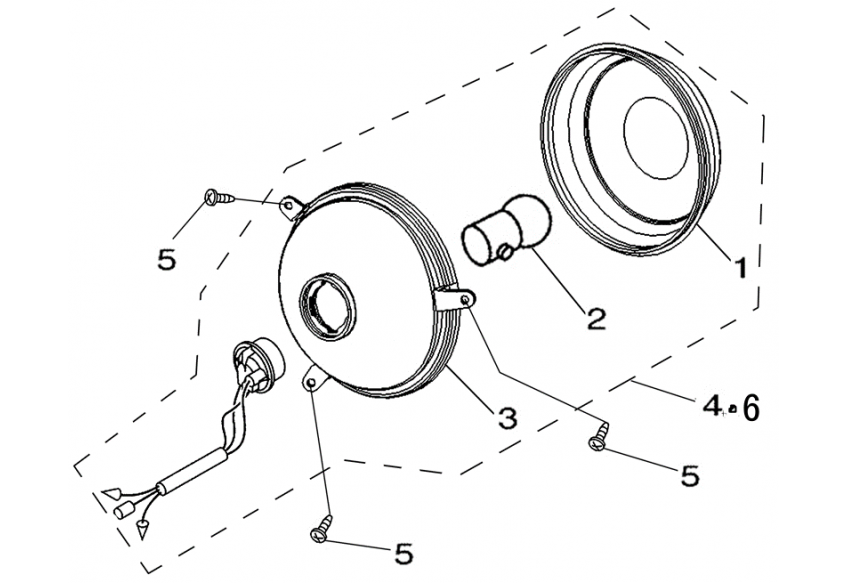Фонарь указателя поворотов (задний)