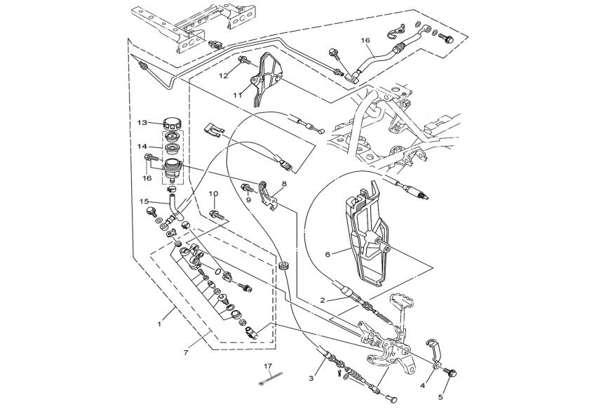 Тормозная система (ножной тормоз)
