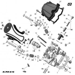 Запчасти головки цилиндра двигателя (передняя)
