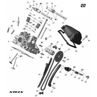 Запчасти головки цилиндра двигателя (задняя)