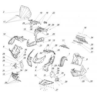 STELS VITYAZ800 (Детали корпуса)