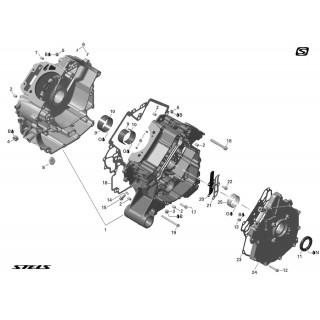Запчасти картера двигателя снегохода Stels S 800 Rosomaha