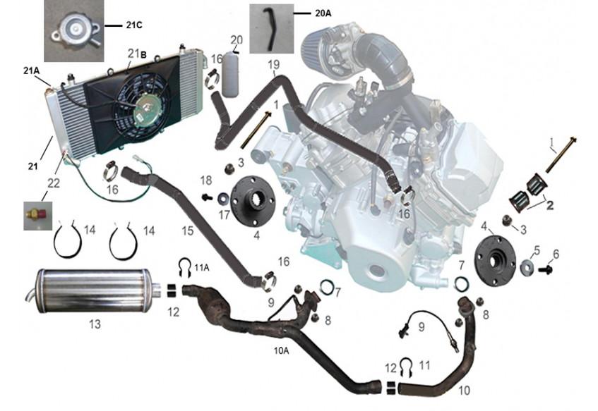 Элементы систем двигателя