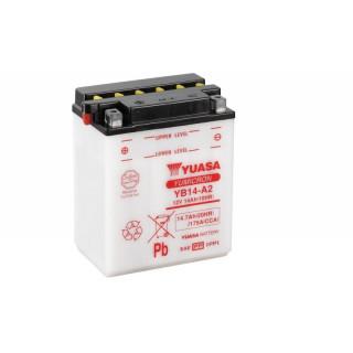 Аккумулятор YUASA YB14-A2 с электролитом