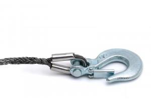 Трос для лебедки Professional 6 х 15м, с крюком