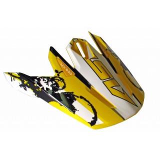 Козырек для шлема MX600 WHITE YELLOW BLACK