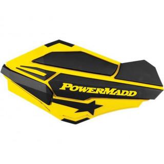 """Ветровые щитки для квадроцикла """"Powermadd"""" серия Sentinel, желтый/черный"""