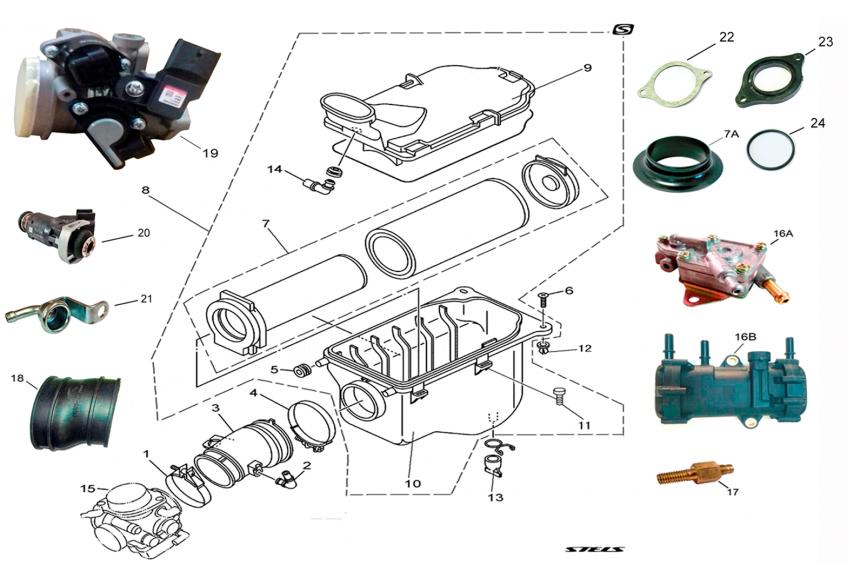 Фильтр воздушный и корпус дроссельной заслонки