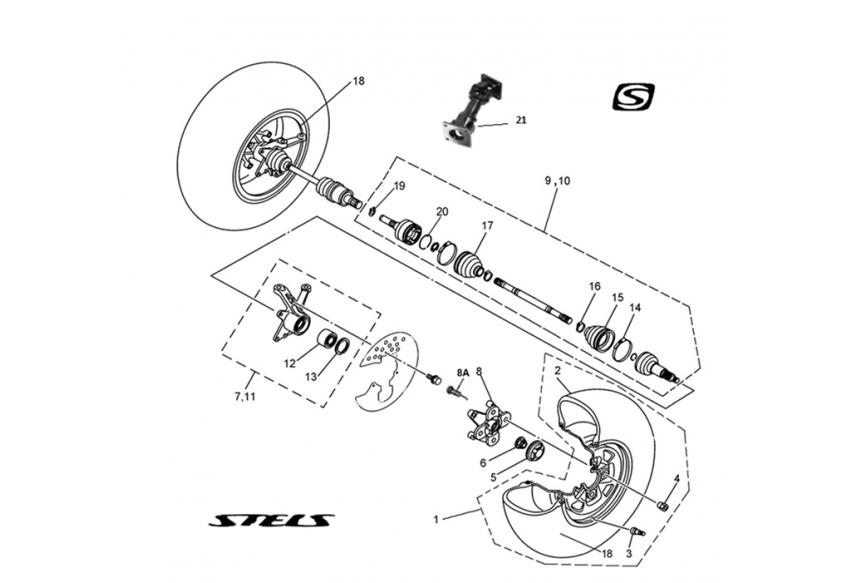 Привода передних колес