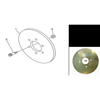Тормозной диск (задний тормоз)