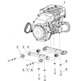 Подвеска двигателя 600сс