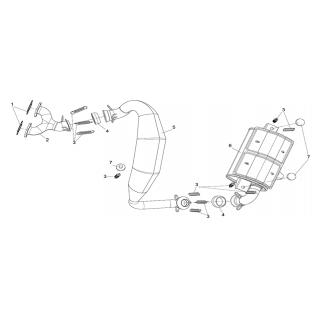 Система выпуска отработавших газов ЕРМАК 600сс