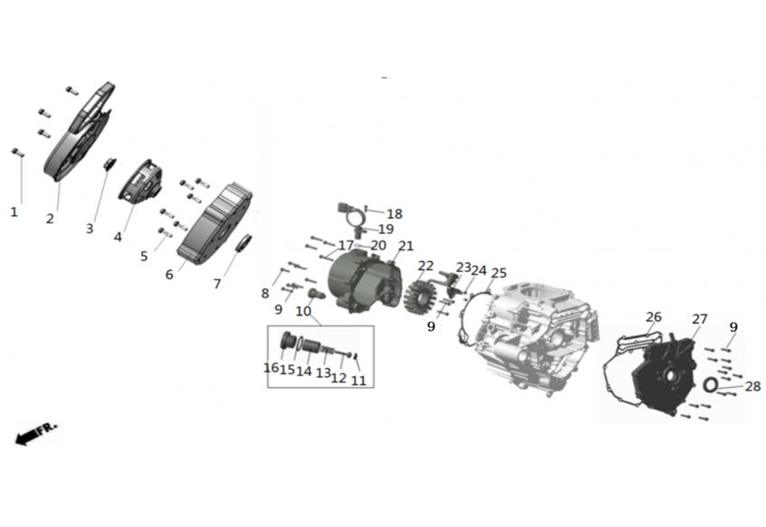 Электрооборудование (запуск от ручного стартера)
