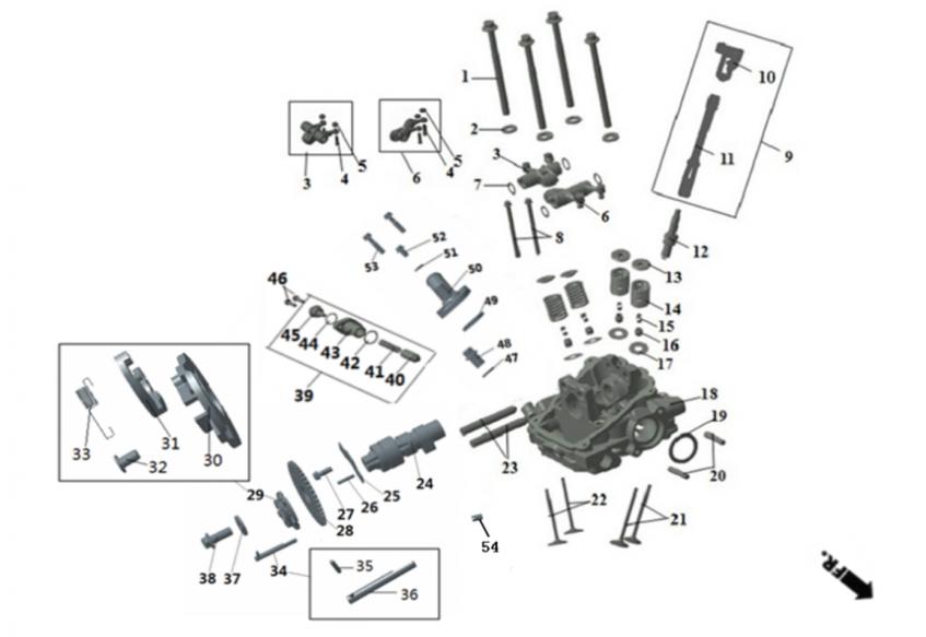 Головка цилиндра ДВС (передняя, с ручным стартером)