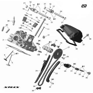 Головка цилиндра ДВС (задняя, с электростартером)