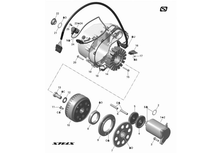 Электрооборудование (запуск от электростартера)