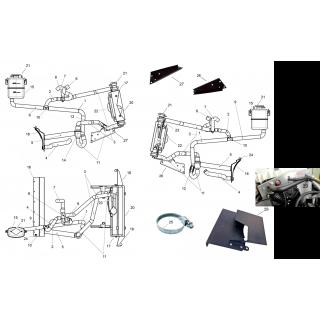 Система охлаждения с широким радиатором