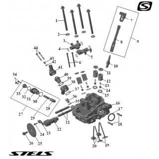 Головка цилиндра ДВС (передняя)