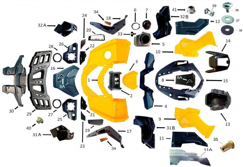Облицовка корпуса, передняя часть