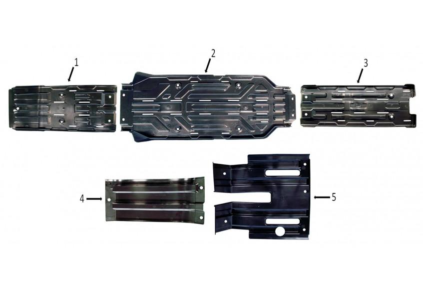 Защита днища и двигателя, пластик