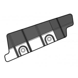 Щиток защитный переднего рычага подвески нижний правый (черный), пластик, LU069246
