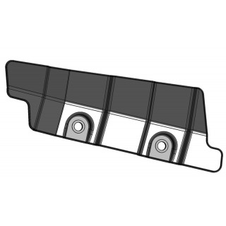 Щиток защитный переднего рычага подвески нижний левый (черный), пластик, LU069247