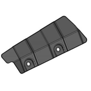 Щиток защитный заднего нижнего рычага подвески левый (белый), пластик, LU079930