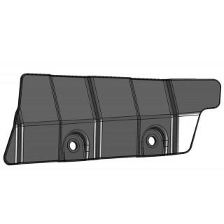 Щиток защитный заднего нижнего рычага подвески правый (черный), пластик, LU069248