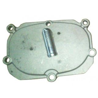 Крышка ГРМ (шесть крепежных отверстий) со штуцером, аллюмин.сплав, LU058480