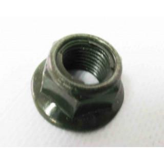 Гайка с фланцем самоконтр.M10х1.25мм (зелен), сталь, LU018130