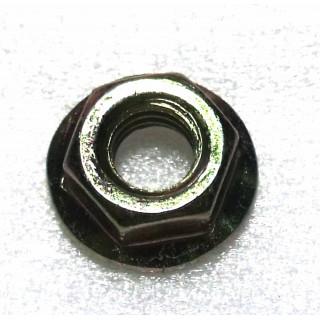 Гайка с фланцем ребрист. M6х1.0мм, сталь, LU016991