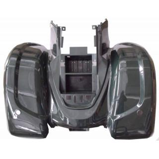 Щиток кузова облицовочный задний, верхний (черный), LU027216