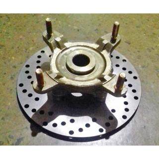 Фланец крепления переднего колеса (стального) с тормозным диском, в сборе, LN001524