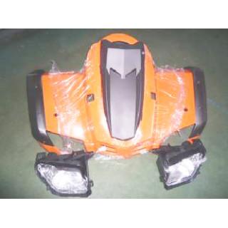 Щиток кузова облицовочный передний, в сборе (красный), LU029273