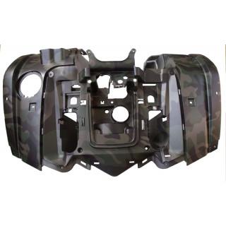 Щиток кузова облицовочный передний (темно-зеленый), LU022360