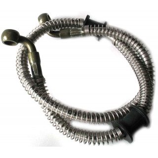 Шланг тормозной системы, армированный, передний, левый (650мм), резина, LU022426