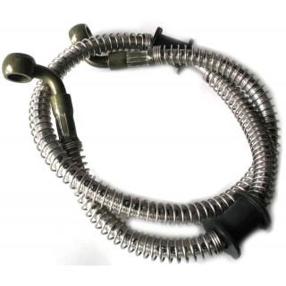 Шланг тормозной системы, армированный, передний, правый (650мм) резина, LU022428