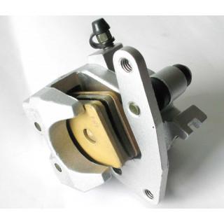 Суппорт переднего дискового тормоза, левый, в сборе (Emark), LU022430