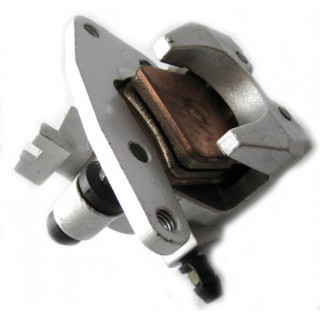 Суппорт переднего дискового тормоза, правый, в сборе (Emark), LU022431
